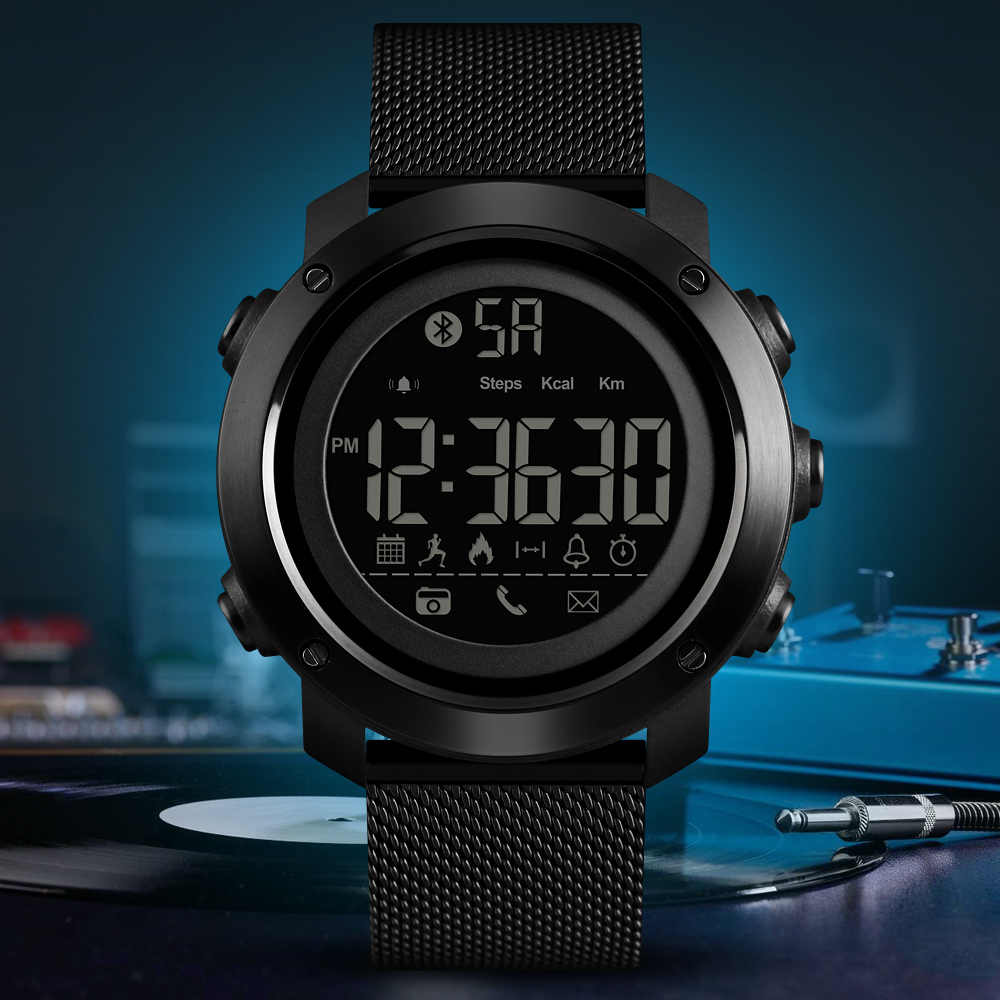 New Fashion Sport Smart Wrist Watch Digital Waterproof Bluetooth Remote Camera Pedometer Calorie Sports Watches Smartwatch
