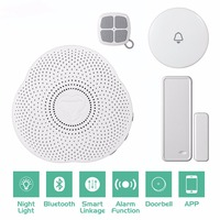 Bluetooth Wireless Doorbell Chimes Android IOS Phone APP Control Smart Home Security Alarm System Linkage Night