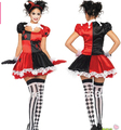 Free Shipping  LADIES 80s POP HARLEQUIN CLOWN BW FANCY DRESS COSTUME OUTFIT NEW