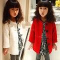 2016 New High Quality Children's Clothing Girls Thickening Overcoat Children Winter Outerwear Kids Long Woolen Coat
