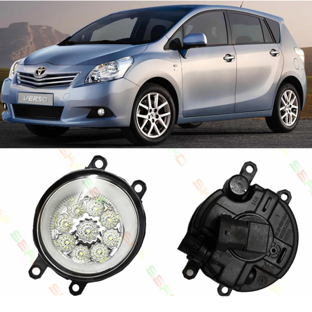 For TOYOTA VERSO MPV AUR2 ZGR2 2009-2012 Car styling LED fog Lights high brightness fog lamp 1set aiweiyi women s pumps shoes 100