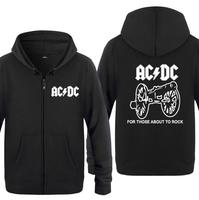Spring Autumn ACDC Band Rock Clothing Casual Sweatshirts Hoodies Unisex Jacket Coat