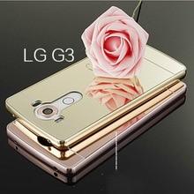 Для LG G3 Телефон Case Роскошные Зеркало Гибридный Сплав Жесткого Металлического Алюминия рамка крышка для LG G3 D855 D850 D830 D831 F400 Case HC01