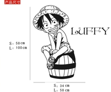 One Piece Luffy Wall Vinyl Sticker Decal