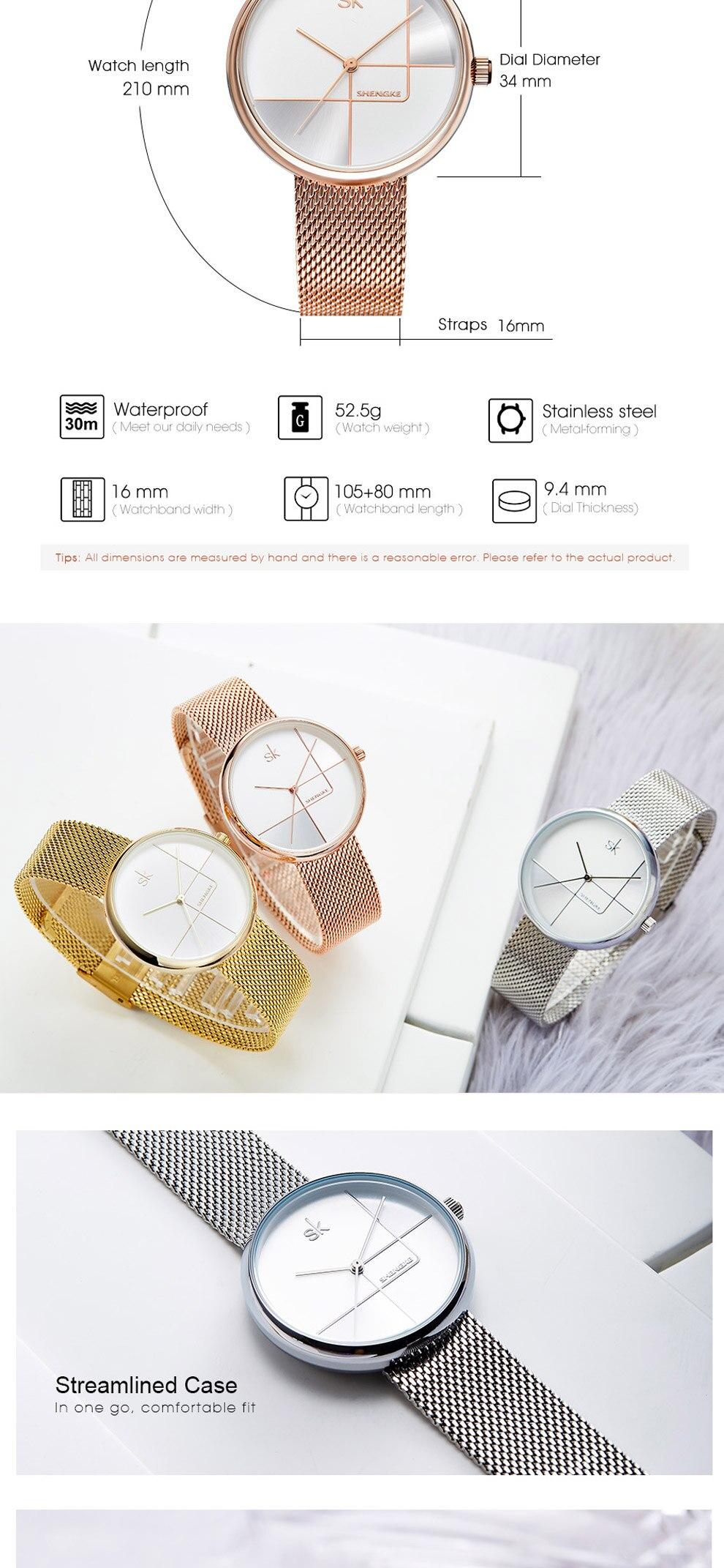 Sk Creative Luxury Women's Bracelet Watch 10