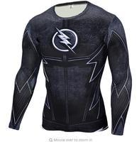 The Flash Black Panther T Shirt Men 3D Printed T shirts Fitness Compression Shirt Crossfit Long Sleeve Slim Top Tees Shirt 129