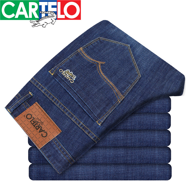 CARTELO 2017 NEW Men Denim Jeans Straight Slim mens Pants Fashion Classical Casual Business Style high-quality male Jeans QY6611 hot new arrival mens jeans white hole jeans beggar style pants male taper straight slim high quality men pants plus size mb324