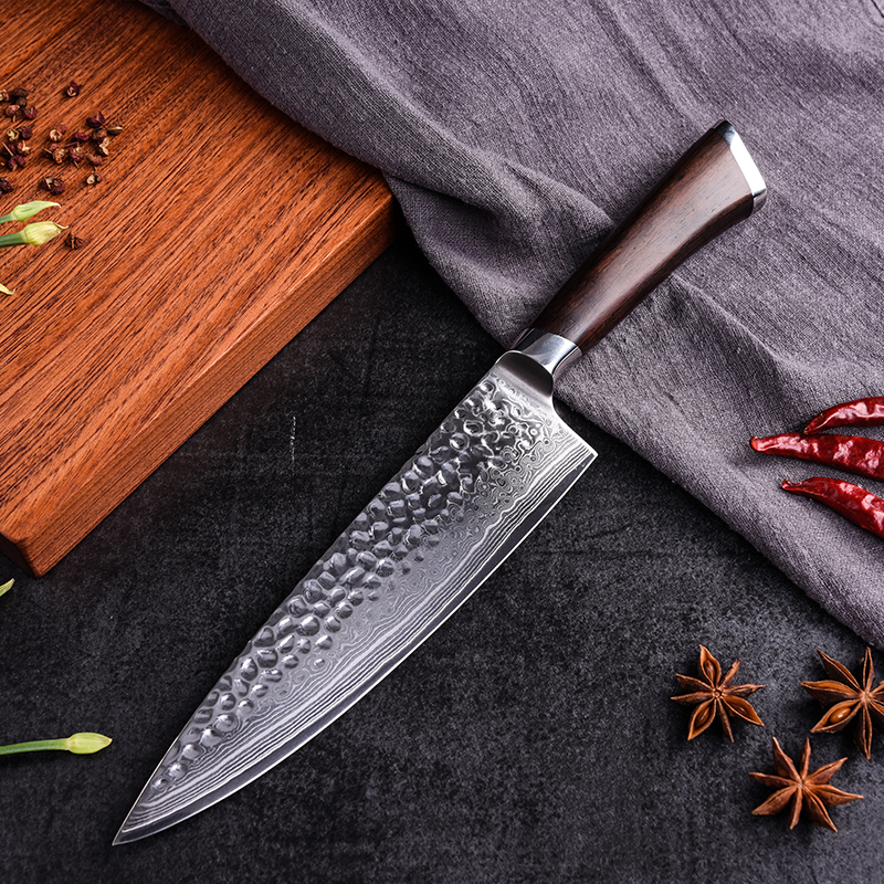 Pro 8 Damascus Chef Knife Japanese VG10 Damascus Steel Kitchen Knife Meat Beef Slicing Cleaver Cooking Knives Tool Wood Handle