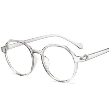 High Quality TR Frame Fashion Glasses Women Eyeglasses frame Vintage Round Clear Lens Glasses
