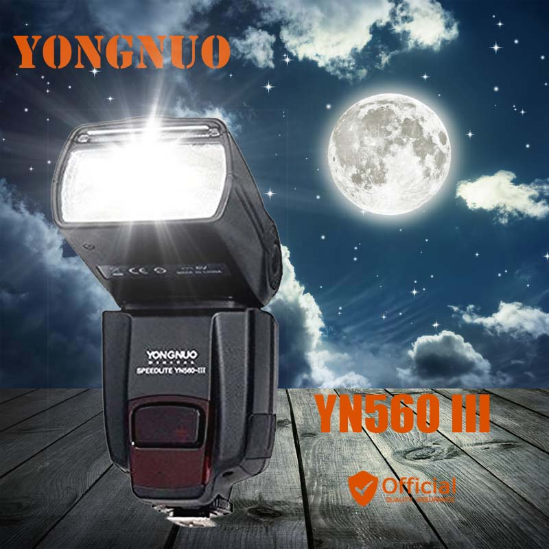 YONGNUO YN560 III 2.4G Wireless Speedlite Flash for Canon EOS 1Ds 1D Mark IIN 40D 50D 60D 77D 7D 6D 5D Mark III 5D2 1100D 600D купить футляр для canon eos 1100d