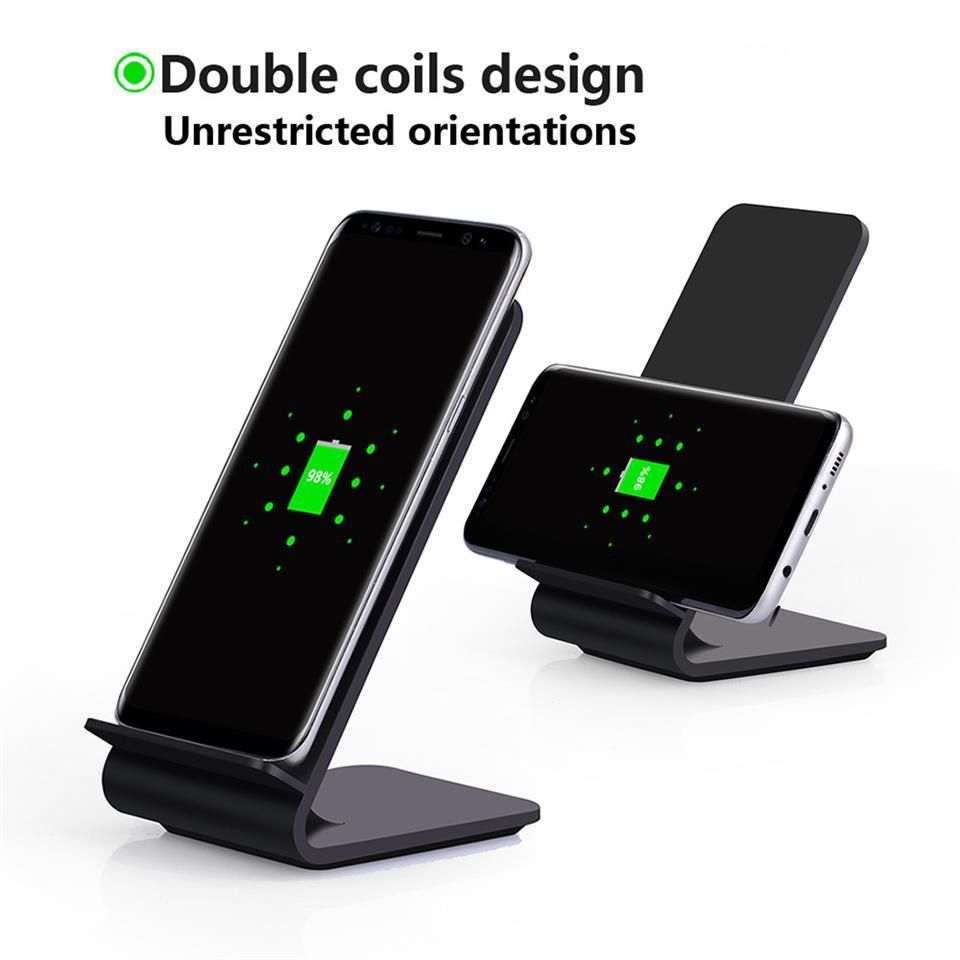 Wireless Charger Qi Charge 10W Fast charge for Samsung Galaxy S8 S7 S6 Edge plus Note 7/5 9V 1.2A Vertical Charging Pad
