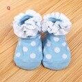 Bebés niños niñas niño Bow tobillo calcetines de encaje de algodón Floral Cut calcetines 3D calcetines botines