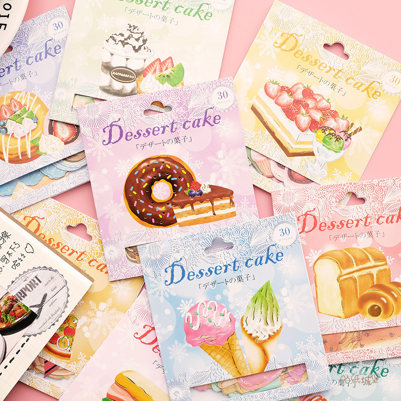 Cake Gourmet Donuts Bullet Journal Decorative Stationery Stickers Scrapbooking DIY Diary Album Stick Label