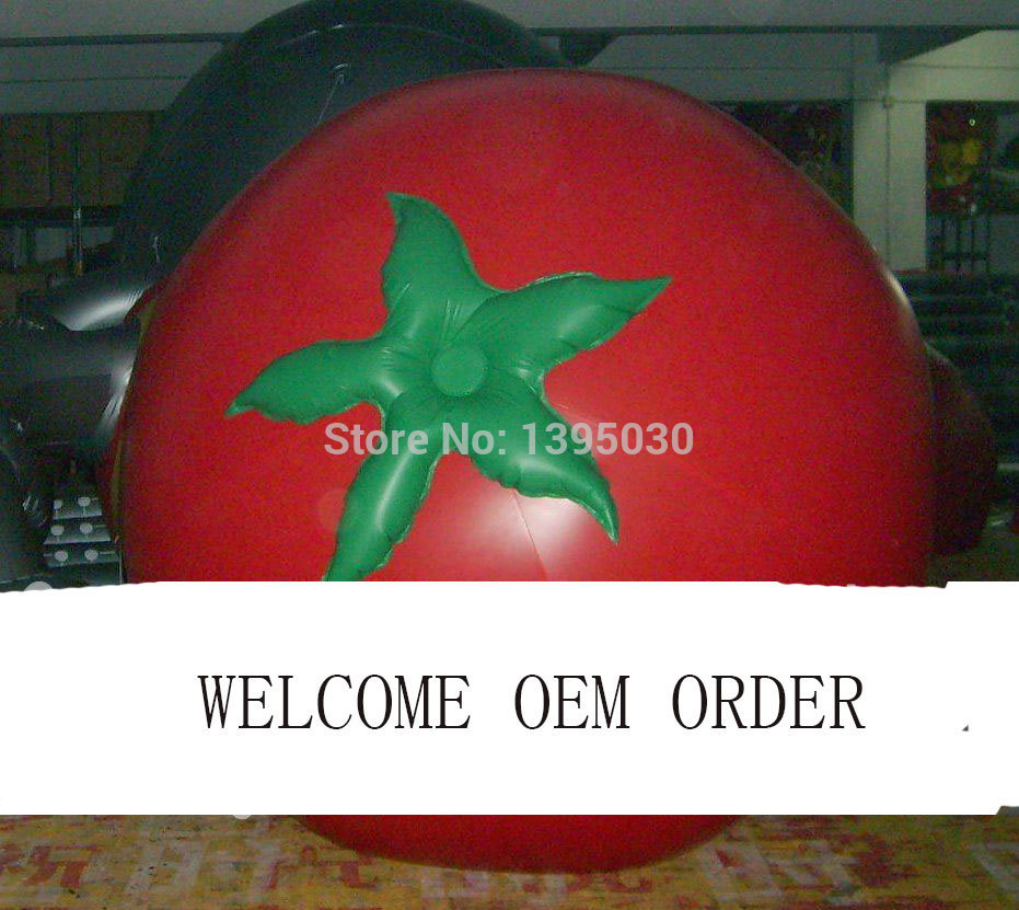 2m Inflatable Tomato Balloon for Advertisement/ Other Vegetables and Fruit Shapes ao058r 2m sky balloon new brand attrative pvc helium balloon custom advertising inflatable balloon
