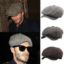 2019 Men British Style Octagonal Hats Winter Hat Gatsby Cap