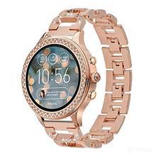 YOOSIDE 18mm bracelet de montre en acier inoxydable à libération rapide en acier inoxydable Bling cristal bracelet pour fossile Q Venture Gen3/Gen4 HR/TicWatch C2