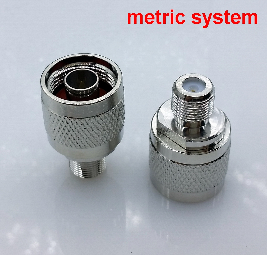 N Type Male To F Female RF Coax Adapter Connector Convertor Metric System 1pcs