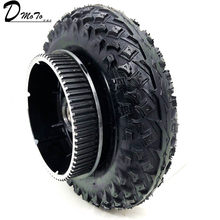 "200X50 Wheels With Drive Gear 8X2"" Tire and Inner Tube for Electric Scooter Wheel Chair Truck Pneumatic Trolley Cart(China)"