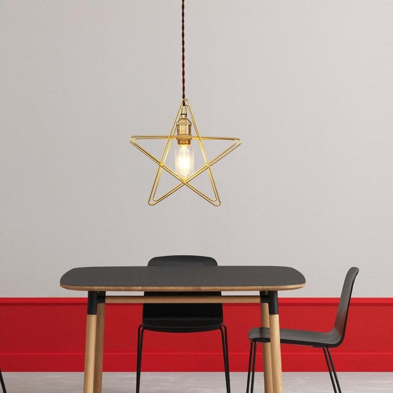 creativity five stars iron pendant lamps single aisle clothing stores decorative window shops dining pendant light ZA81525
