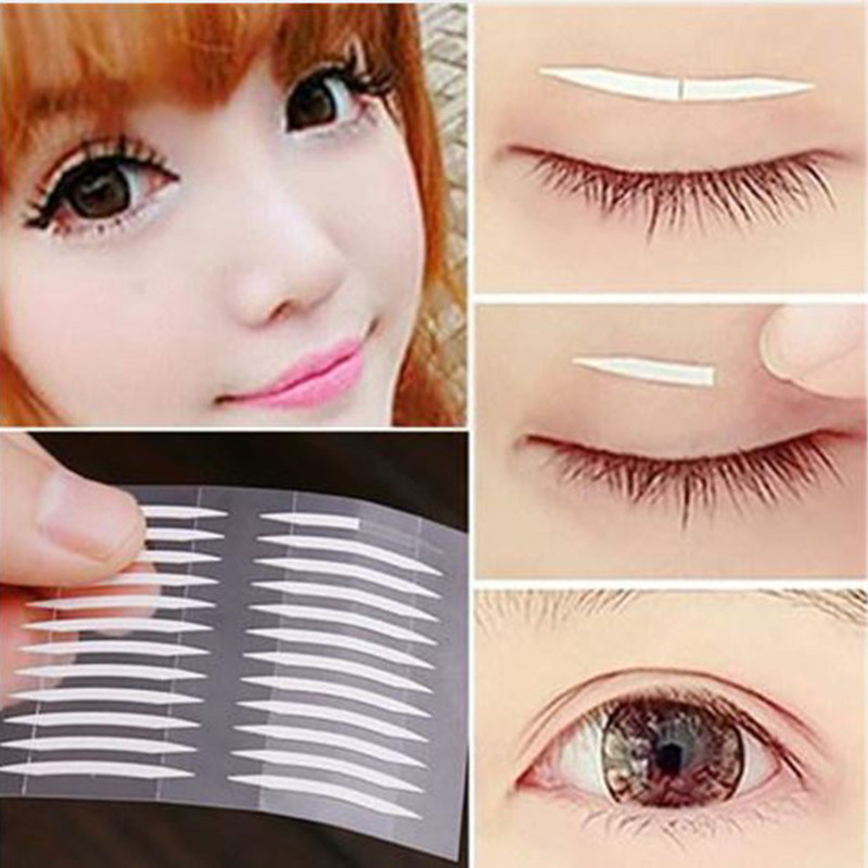 600pcs White Eyelid Sticker Double Eyelid Tapes Thin Invisible Double-sided Clear Adhesive Accessories Drop Shipping 240pcs