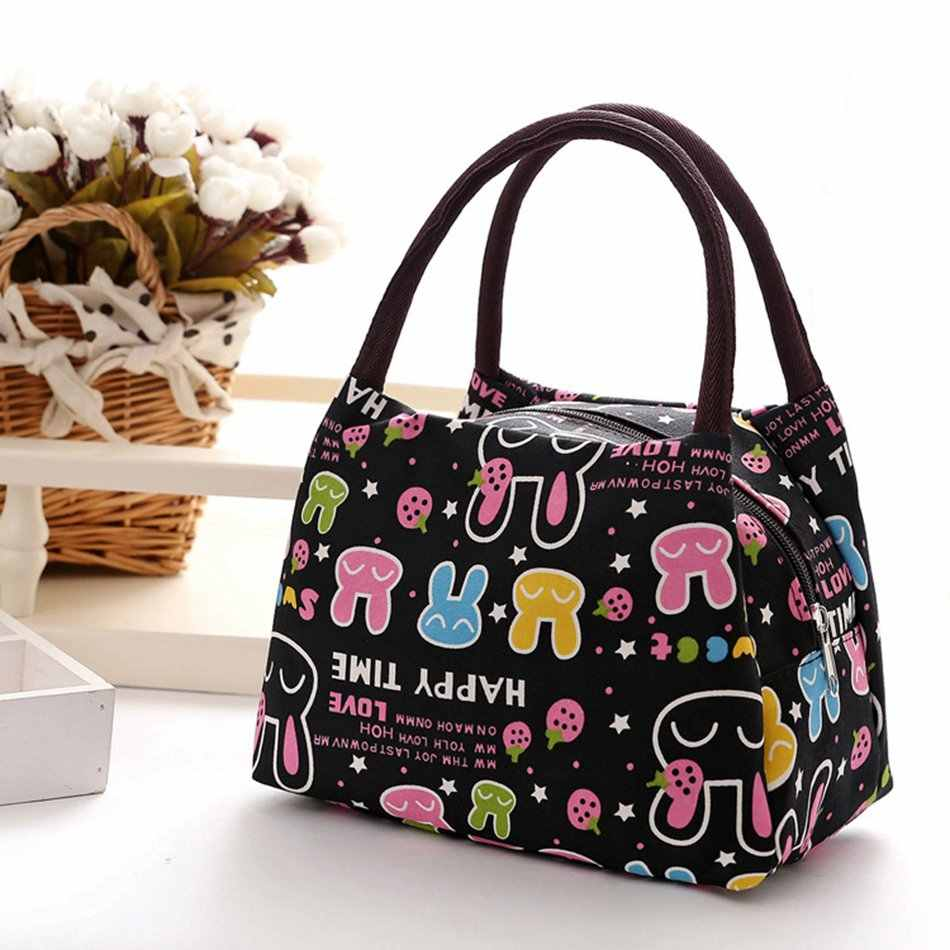 ... Leisure Cute Animal Hello Kitty Lunch Bag Girl Portable Insulated  Cooler Bags Thermal Food Picnic Bags ... 72e7ebce24e8c