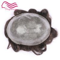 Tsingtaowigs, Top прочное качество тонкой кожи инъекций волосы мужчины парик, волос мужчины парик, волос замена Бесплатная пересылка!