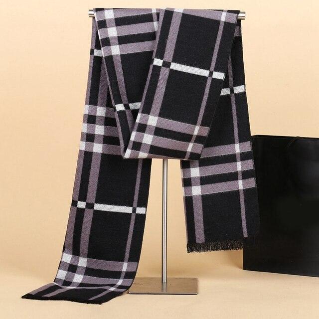 Мода мужская кашемировый шарф люксовый бренд большой размер плед шарф мужчины зима теплая шарфы cachecol воротник для Рождественский подарок