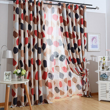 Japanese And Korean Pebbles Printed Curtains Blackout Curtains For Living Room Short Curtains Bedroom Sheer Curtains 1 Panel Red