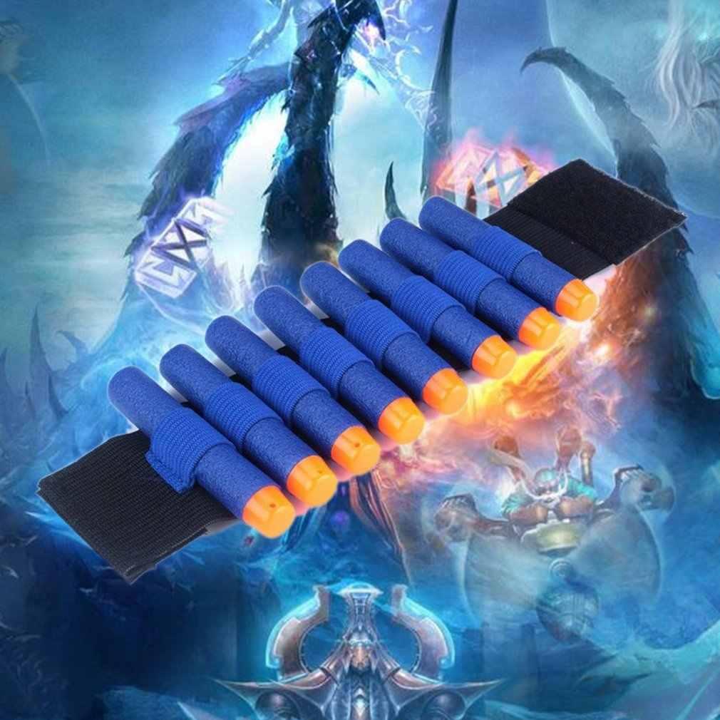 1 шт. бандаж для Nerf N-strike Elite серии мягкая пуля ремешок на запястье Дартс хранение боеприпасов ремешок на запястье-синий игрушечный пистолет аксессуары