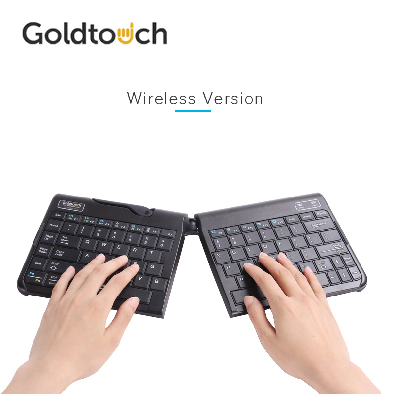 original goldtouch ergonomic bluetooth wireless keyboard portable height adjustable and foldable. Black Bedroom Furniture Sets. Home Design Ideas