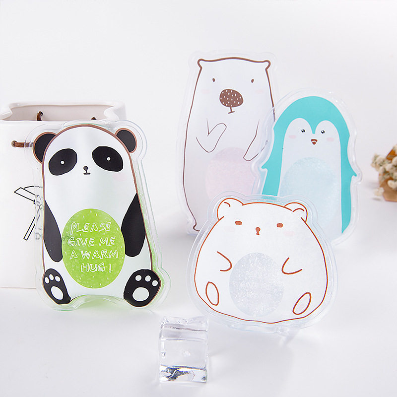 PACGOTH Portable Mini Physiotherapy PVC Cooler Bags Cartoon Animal World Prints Cute Kawaii Summer Cold Compress Ice Packs 1 PC mini world mn202