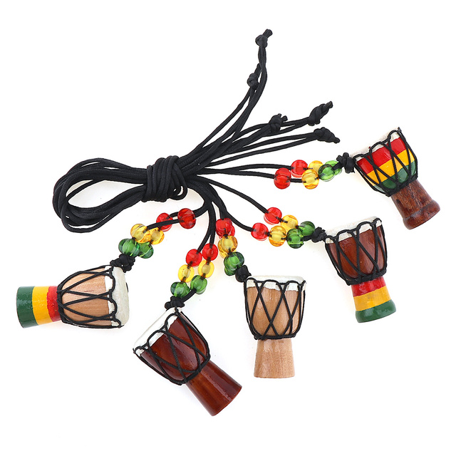 5pcs Mini Jambe Drummer Individuality Djembe Pendant Percussion Musical  Instrument Necklace