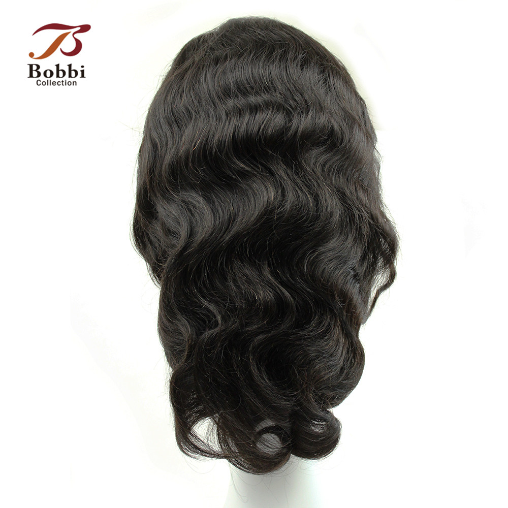BOBBI COLLECTION Full Lace Front Non Remy Human Hair Wigs Brazilian Body Wave Wig Glueless Lace Front Wig with Baby Hair