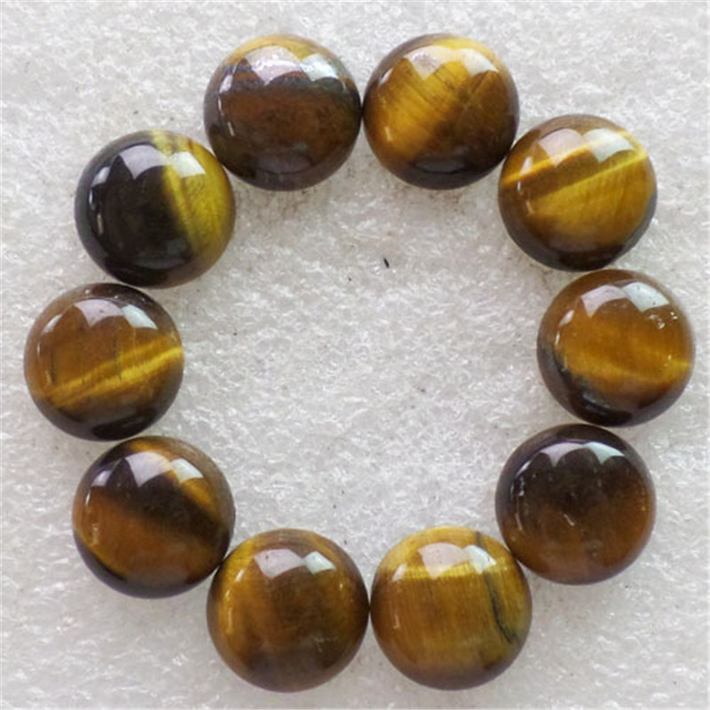 (10 pieces/lot) Wholesale Natural Tiger Eye Gem Round CAB CABOCHON 14x5mm Free Shipping Fashion Jewelry C0001594