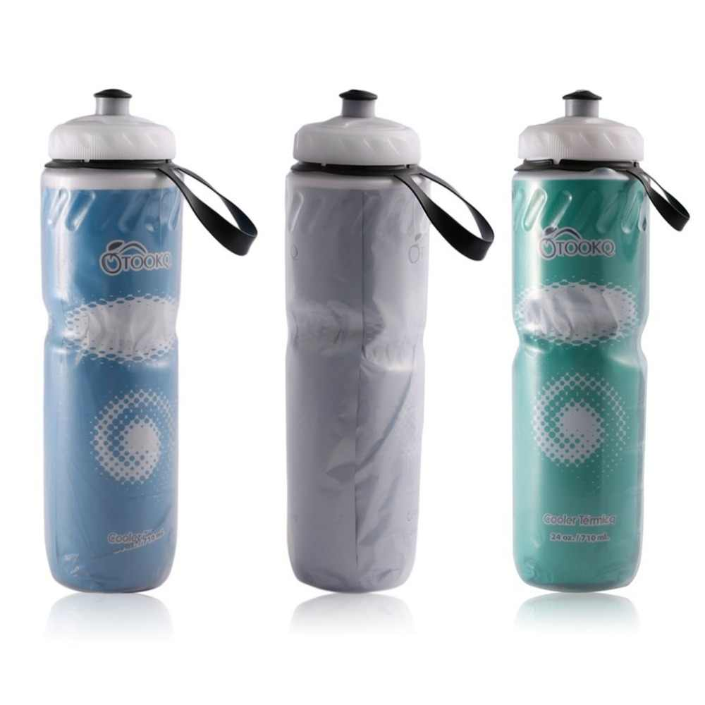 710ml 24oz Portable Outdoor Insulated Water Bottle Bicycle Bike Cycling Sport Water  Kettle Recyclable Bottle