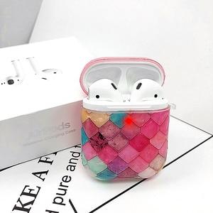 Image 3 - かわいい大理石魚スケールシェルパターン装飾保護ケース apple の Airpods1/2 Bluetooth 落下防止イヤホンカバー