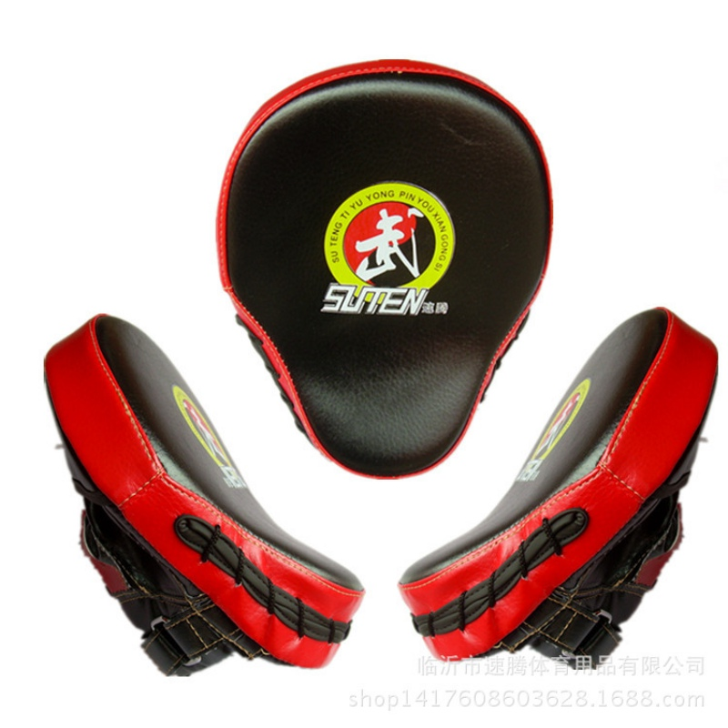 2018 New PU Leather Training Equipment Punching Kicking Pad  Taekwondo Target Curved Target MMA Boxing Curved Punch Pad
