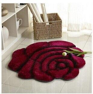 3D стерео ковер с розами журнальный столик для гостиной коврик диван кровать спальня коврики Европейская мода на заказ ковер - Цвет: Red wine