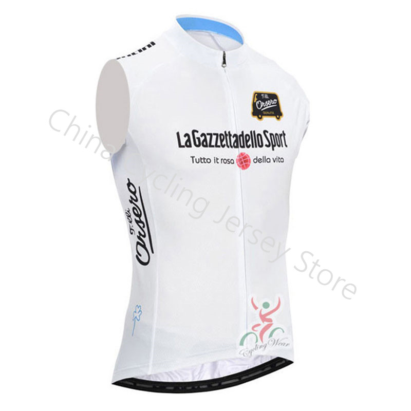 Meikroo Tour de italy Breathable Pro team cycling jersey sleeveless Racing bicycle