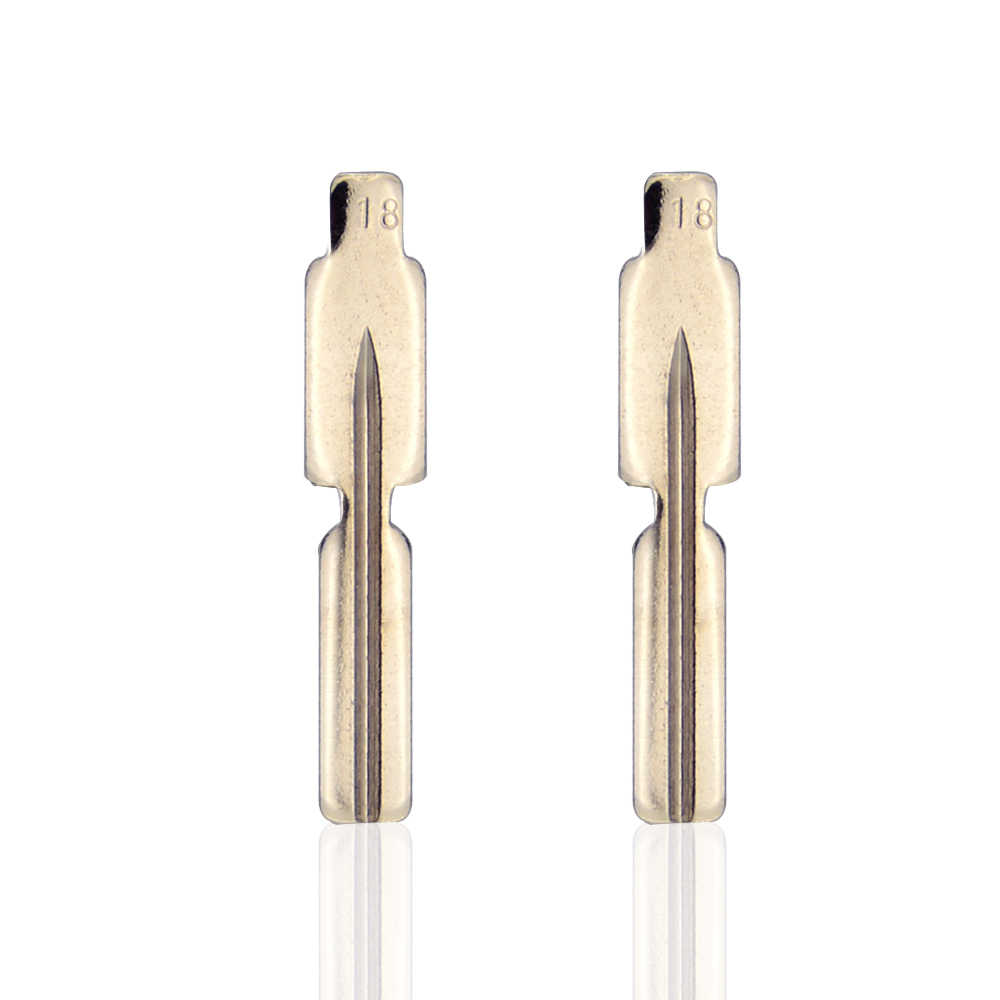 OkeyTech 5PCS/LOT Replacement Metal Blank Uncut Flip KD Remote Key Blade Type #18 for BMW Car Key
