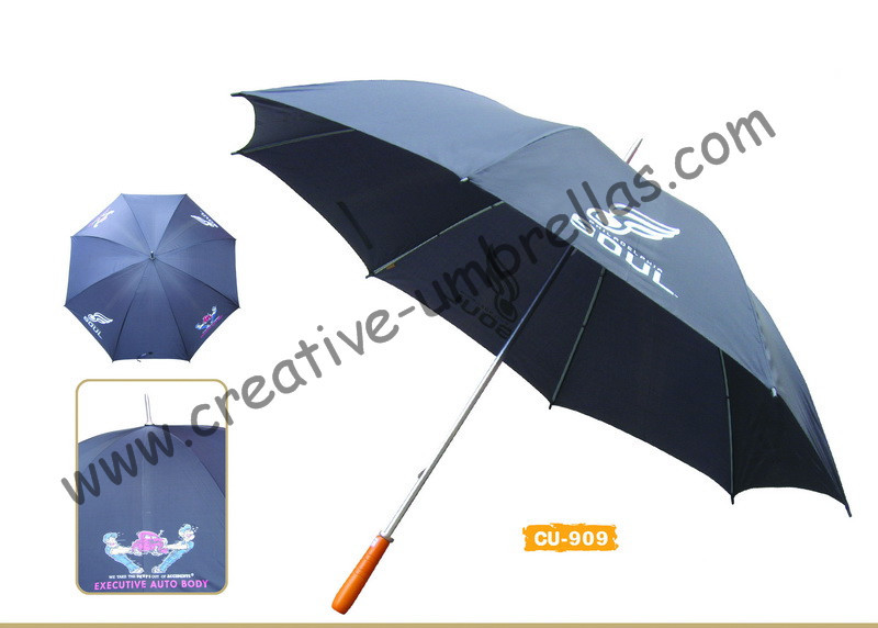 Free shipping by sea,14mm metal shaft and double fluted ribs,manual golf umbrella,anti-rust,advertising gift promotio umbrella