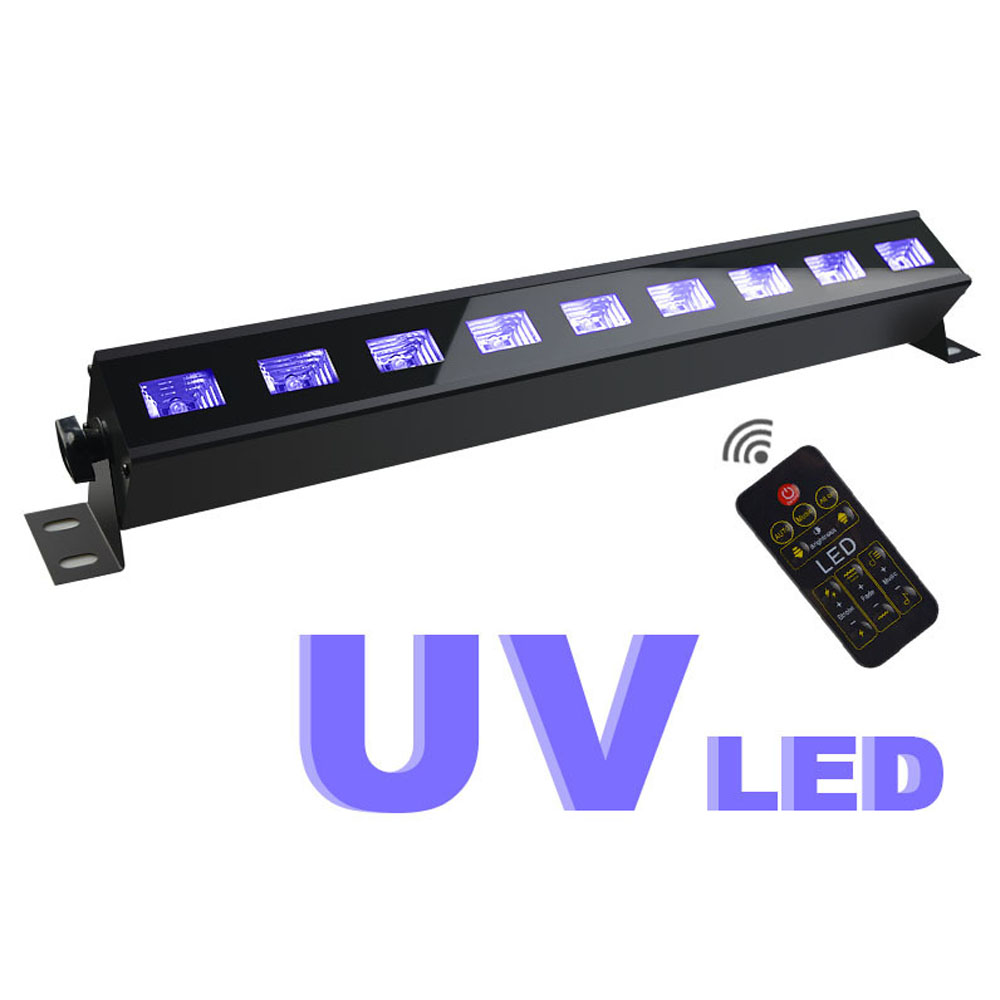 UV Stage Light 9 LEDs 28W Wall Washer LED Bar Black Party Club DJ Disco Light For Christmas Indoor Stage Effect Lights led uv color bar wall washer light 8x3w bar laser projection lighting party club disco light for christmas indoor stage lights