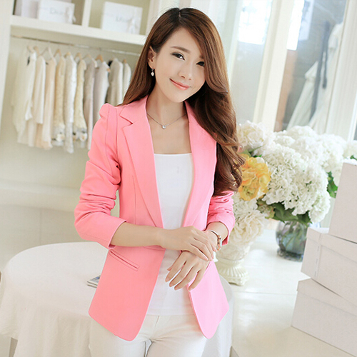 Popular Pink Blazer for Women-Buy Cheap Pink Blazer for Women lots ...