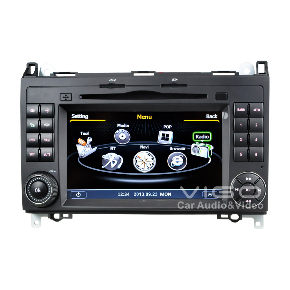 car stereo gps navigation for mercedes benz a b v class. Black Bedroom Furniture Sets. Home Design Ideas