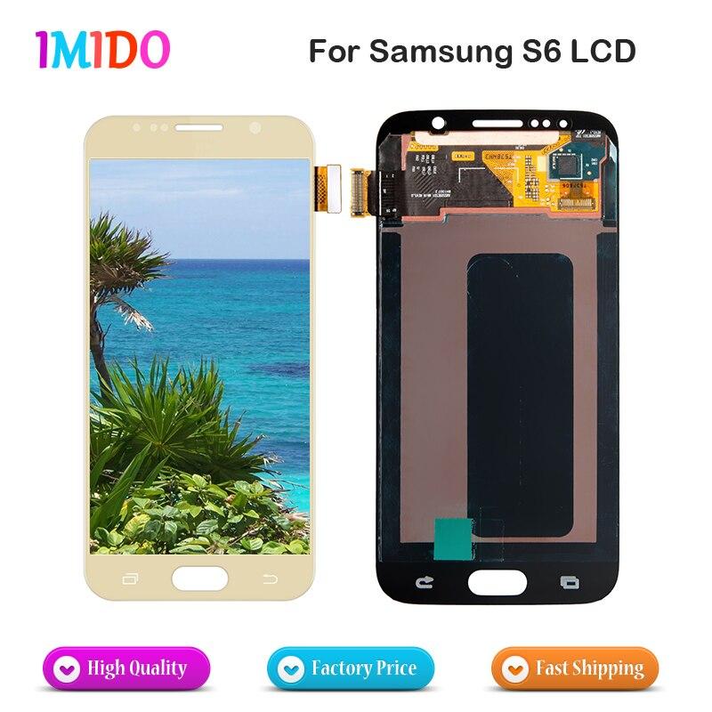 100% Testé Pour Samsung Galaxy S6 écran lcd G920 G920F G920A écran tactile lcd Digitizer remplacement d'écran Libèrent le bateau