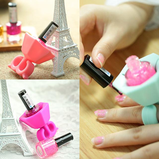 1pc Nail Art Tools Nail Gel Bottle Holder Flexible Durable Wearable Silicone Stand Nail Polish Nail Holder Tools
