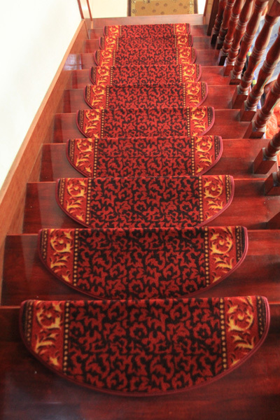 Stair carpet hlwg glue slip-resistant stepping pad customize fashion brief stair mat