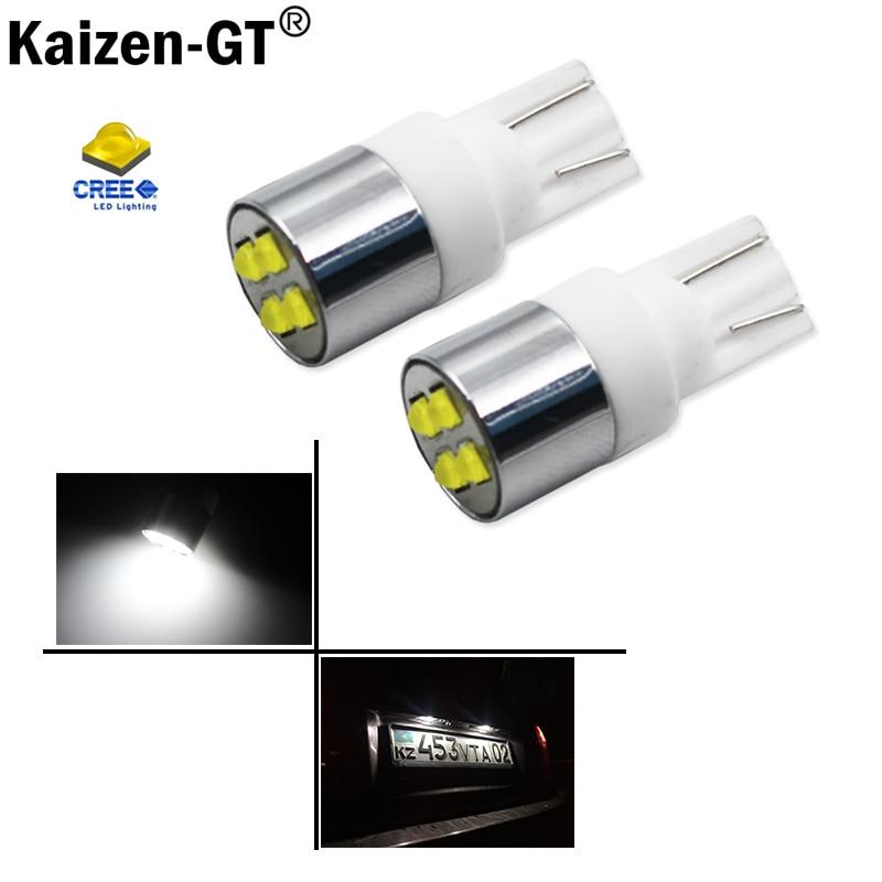 1 Pair Xenon White 15W T10 CREE LED Bulbs Car Parking Lights 168 194 2825 W5W