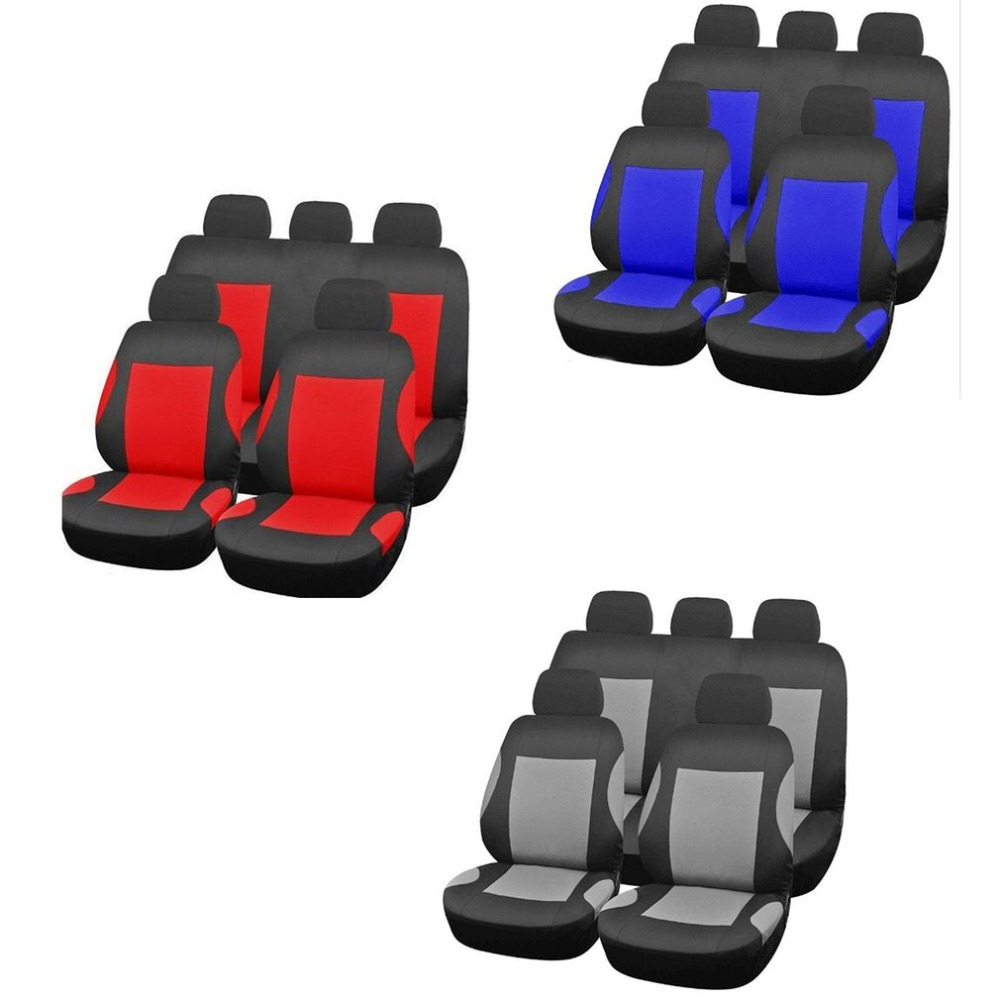Universal Breathable Faux Leather Car Seat Cushion Non Rolling Up Vehicle Comfortable Slide Stitching Color Cover 9