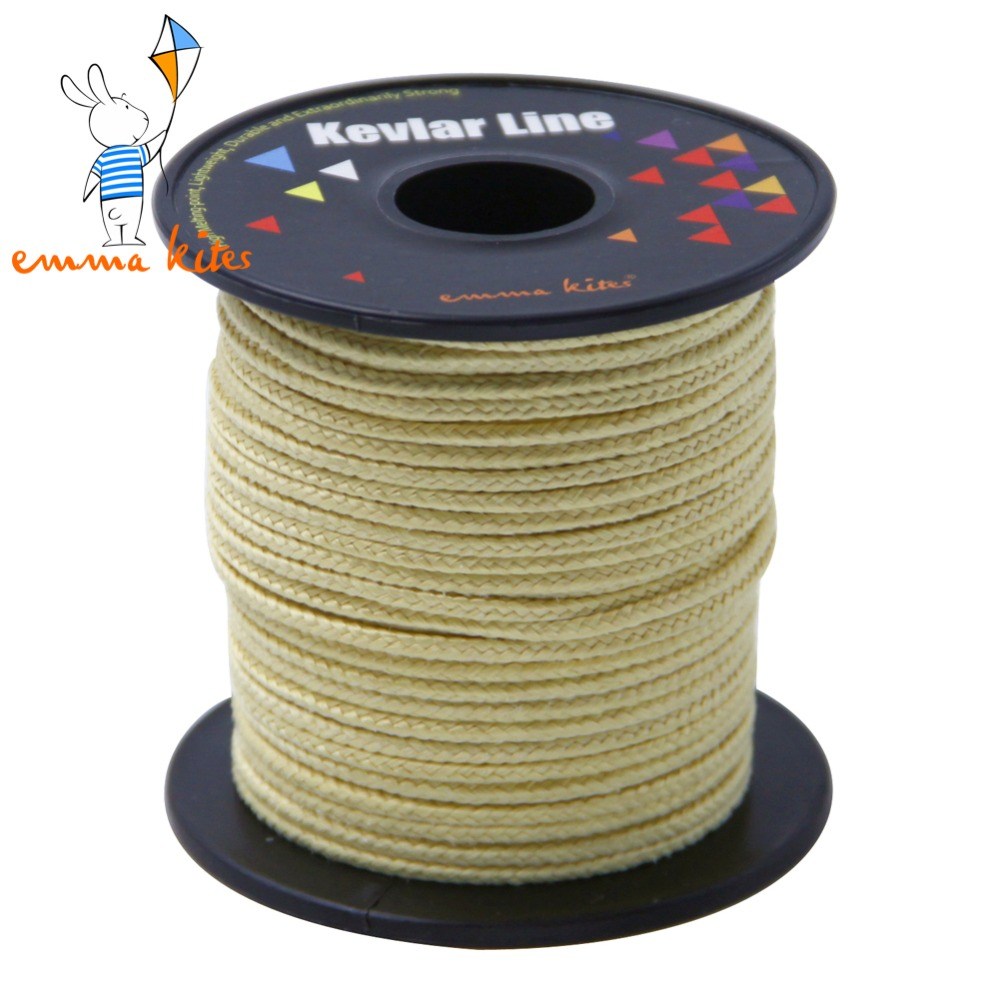 50ft / 15m <font><b>2000lb</b></font> Braided Kevlar Line Kite String Fishing Assist Cord Tackle Tool Outdoor Camping Cord image